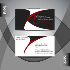 Free Business Card Template Or Visiting Card Set Royalty Free Stock Photo - 38726835