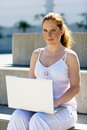 Free Redhaired With Laptop Royalty Free Stock Photos - 3881098