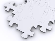 Free White Puzzle Royalty Free Stock Photography - 3880417