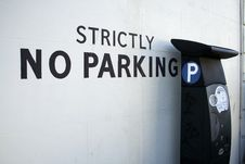 Definitely No Parking... Maybe Stock Photography