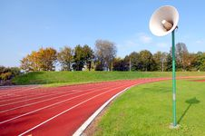 Free Racetrack For Runners, With Speaker Stock Image - 3882641