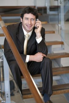 Free Businessman Talking On Cellphone Stock Image - 3883571