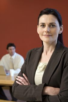 Free Businesswoman With Colleague Royalty Free Stock Photos - 3883598