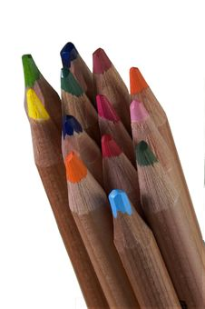 Free Coloured Pencils Royalty Free Stock Images - 3884149
