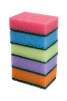 Free Five Colored Sponges Stock Images - 3884314
