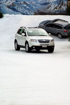 Free Suv In The Snow Stock Photo - 3884580