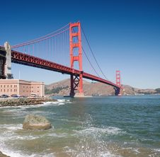 Free Golden Gate Royalty Free Stock Image - 3885066
