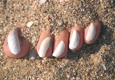 Beach Pedicure Stock Image
