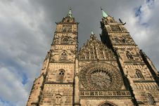 Free A Famous Church In Nurnberg Old Town Stock Photos - 3885863
