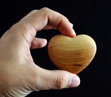 Free Man S Hand Holding A Heart Stock Photos - 3886153