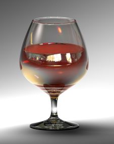 Free Goblet With Cognac (3d Rendering) Stock Photos - 3886633