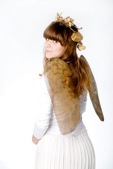 Free Angel Girl Back Stock Photography - 3886762