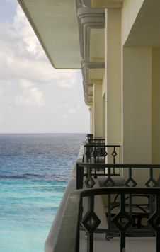 Free Balconies Out To Sea Royalty Free Stock Photo - 3886865