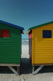 Free Changing Huts At Muizenberg Stock Photography - 3886882