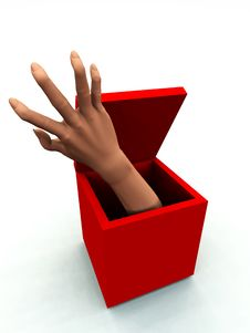 Free The Box With A Hand 2 Royalty Free Stock Photos - 3887098