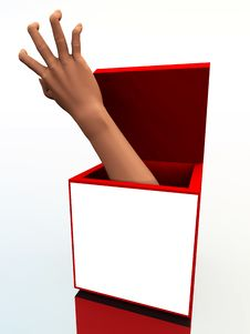 Free The Box With A Hand 4 Royalty Free Stock Photography - 3887107