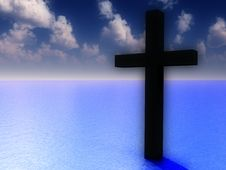 Free The Cross In Daytime Water 5 Royalty Free Stock Photo - 3887245