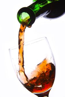 Free Pouring Red Wine Stock Photography - 3887252