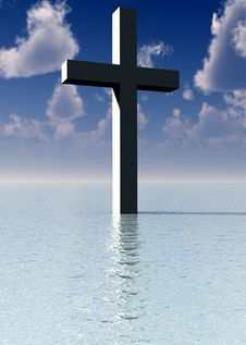 Free The Cross In Daytime Water 8 Royalty Free Stock Image - 3887266