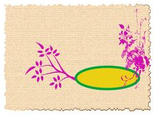 Card With Pink Floral Design Stock Images