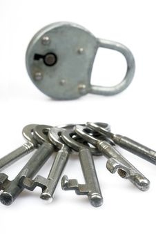 Antique Lock And Keys Stock Image