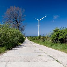 Free Windmill And Road Stock Photo - 3887940