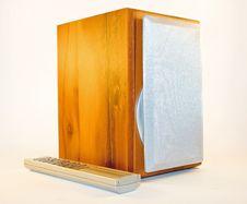 Loudspeaker Isolated On White Stock Photos