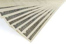 Free One Hundred Dollar Bills   On A White Background Royalty Free Stock Image - 3888006