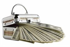 Free One Hundred Dollar Bills In A Box On A White Royalty Free Stock Photos - 3888028