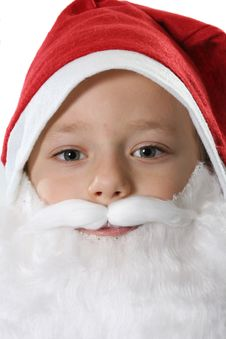 Free Child In A Red Hat Close Up Stock Photos - 3888313