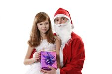 Free Santa Together The Girl Stock Images - 3888494