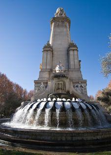 Monumento Cervantes Fountain Royalty Free Stock Image