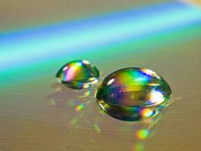Free Water Drops On The CD Stock Photo - 3888790