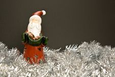 Santa Claus Candleholder Stock Image