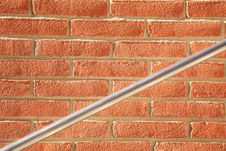 Free Metal Handrail On Brick Wall Royalty Free Stock Image - 3889426