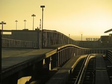 Free Sunrise At SFO Royalty Free Stock Photo - 3889475
