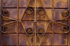 Free Rusty Iron Work Grill - Horizontal Royalty Free Stock Photography - 3889537