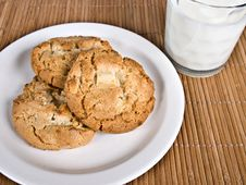 Free Cookies & Milk Stock Photos - 3889573