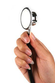 Holding Stethoscope Stock Images
