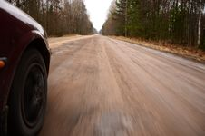 Free Driving At High Speed Down A Country Road Stock Photos - 38863943