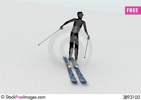Free Skier On Snow Stock Photo - 3893100