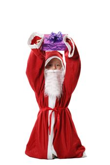 Free Boy In A Suit Santa Royalty Free Stock Photos - 3890288