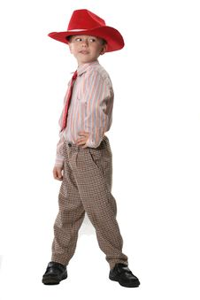 Free Boy In A Cowboy S Hat Stock Image - 3890291