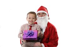 Free Santa With The Little Boy Stock Photo - 3890330