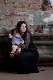 Free Girl With A Doll Stock Photos - 3890373