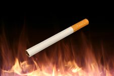 Free Isolated Cigarette On A Fire Background Stock Photos - 3890943