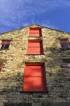 Free Three Red Doors On Brewery Royalty Free Stock Image - 3890976