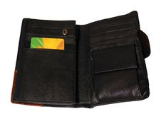 Wallet Opened With Card Royalty Free Stock Photos