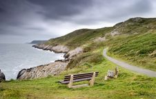Free Track On The Coast In Wales Royalty Free Stock Photography - 3891947