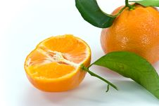 A Fresh Tangerine - Close Up Stock Photos